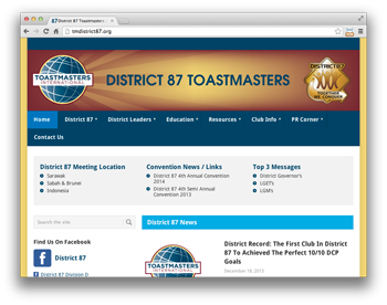 District 87 Toastmasters