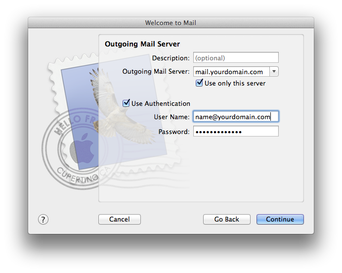 Setting up email in Apple Mail - Step 5