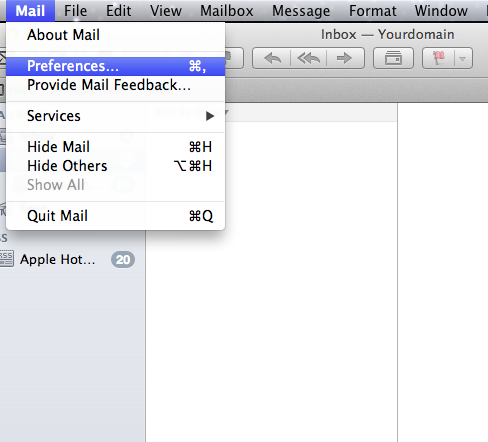 Setting up email in Apple Mail - Step 9
