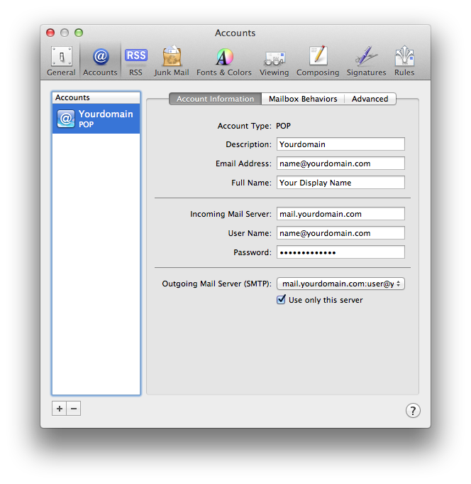 Setting up email in Apple Mail - Step 10