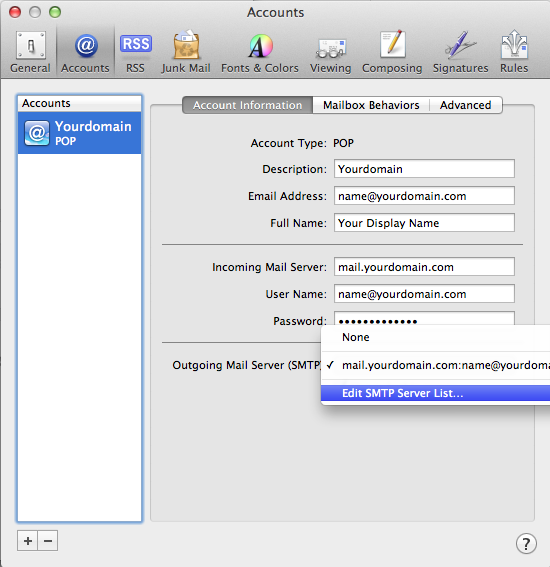 Setting up email in Apple Mail - Step 11