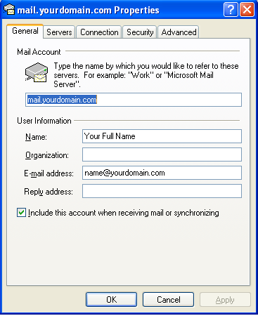 Setting up email in Outlook Express - Step 9
