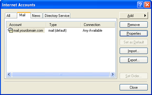 Setting up email in Outlook Express - Step 12