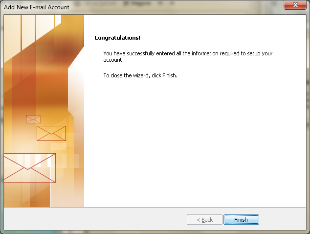 Setting up email in Microsoft Outlook - Step 12
