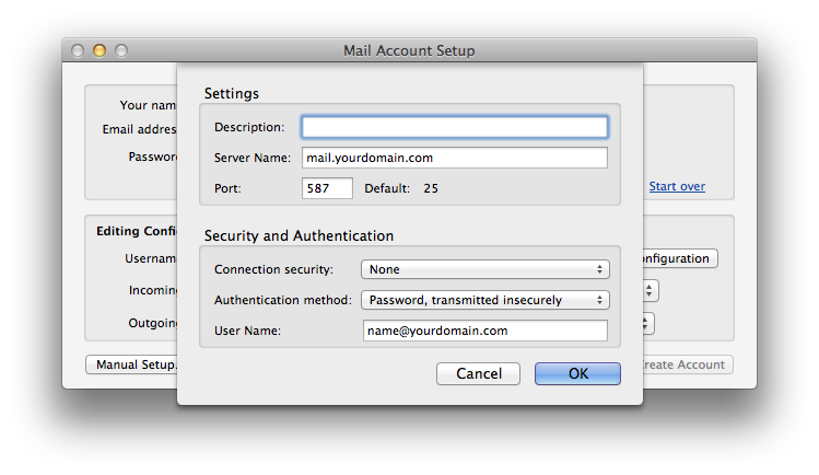 Setting up email in thunderbird - Step 8